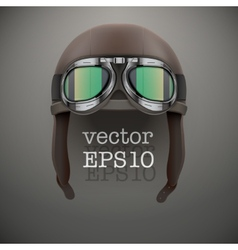 Background of retro aviator pilot helmet with vector