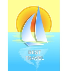 The boat on the sea best travel vector