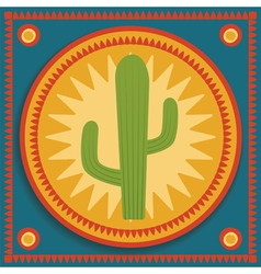 Cactus on stylized background vector