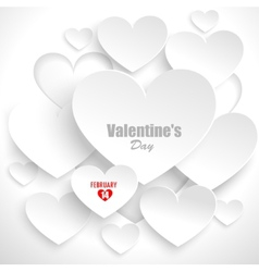 Abstract background with hearts vector