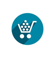 Cart icon isolated vector
