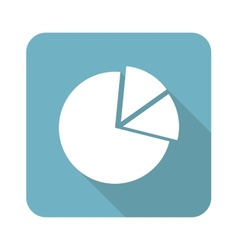 Square diagram icon vector