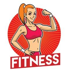 girl gym mascot vector image