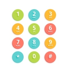 Flat colored keypad for phone vector