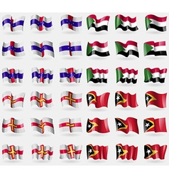 Netherlands antilles suda guernsey east timor set vector