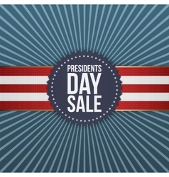 Presidents day sale blue banner with ribbon vector