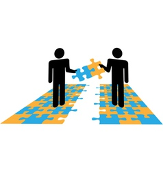 Puzzle Solution Collaboration vector image
