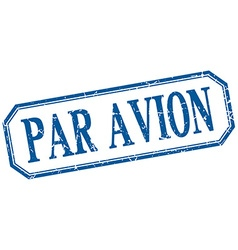Par avion square blue grunge vintage isolated vector
