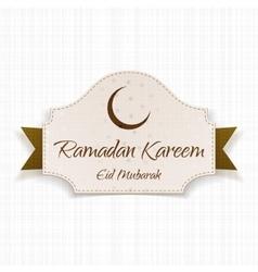 Ramadan kareem eid mubarak festive card vector