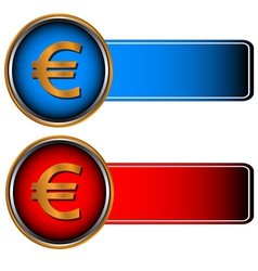 Two symbols of currencies vector