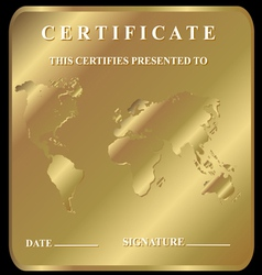 The certificate vector image