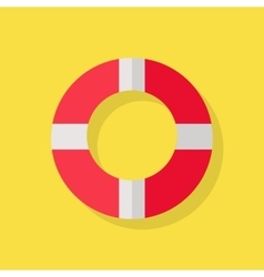 Lifebuoy icon on yellow vector