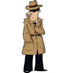 spy hides hand vector image