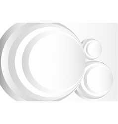 Abstract circle white background vector
