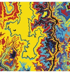 Abstract earth relief map color madness vector