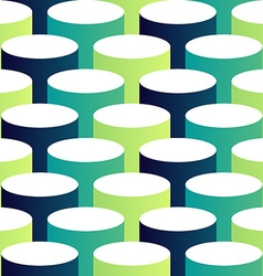 Abstract isometric 3d circle pattern background vector