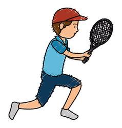 avatar man playing tennis vector image vector image