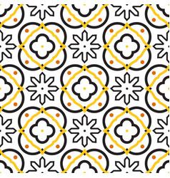 Azulejos black and white mediterranean seamless vector