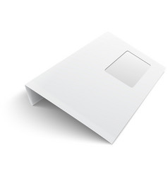 Blank envelope with window on white background vector image vector image