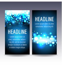bokeh blue lights flyer templates vector image vector image