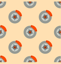 Brake disc pads garage seamless pattern auto car vector