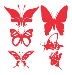 Butterfly digital clipart 1 vector