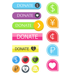 Button for the site donate vector
