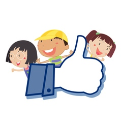Cartoon Kids Like Thumb vector image
