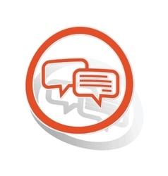 Chatting sign sticker orange vector