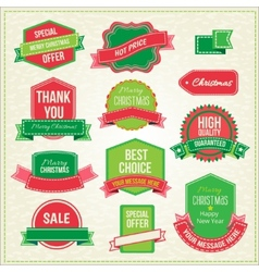Collection of christmas ornaments and decorative vector image vector image
