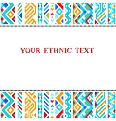 Colorful ethnic geometric aztec template vector