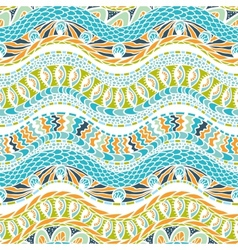 Colorful ethnicity ornament seamless pattern vector image vector image