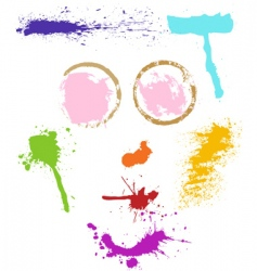 colorful stains vector image vector image