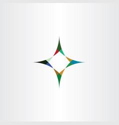Compass arrows sign icon element vector