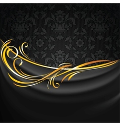 Dark fabric drapes vector image