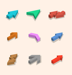 flat arrows isometric vector image