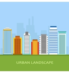flat of city urban landscape vector image vector image