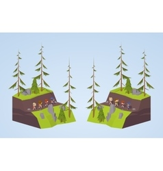 Footpath in the mountains vector image