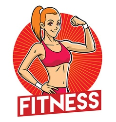 girl gym mascot vector image vector image
