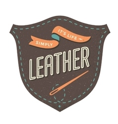 Leather label for creative design project vector