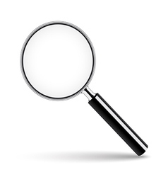 Magnifying glass with transparent glass vector image vector image