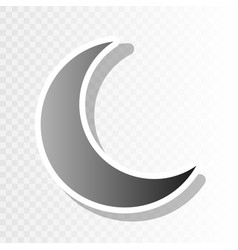 Moon sign new year blackish vector