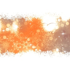 Orange Christmas Background EPS 10 vector image