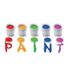 paint cans vector image vector image