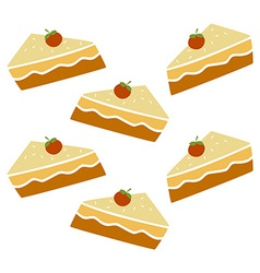 pie cake pattern vector image vector image