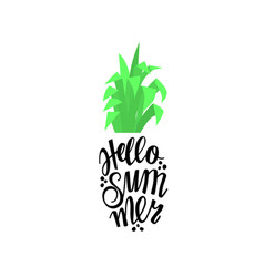 Pineapple in the form of lettering with the word vector
