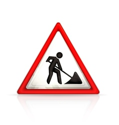 Roadworks sign vector image