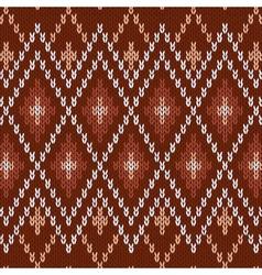 Seamless knitwear pattern vector