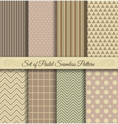 Set of Pastel Seamless Pattern vector image