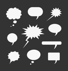 set of symbols comic bubble vector image